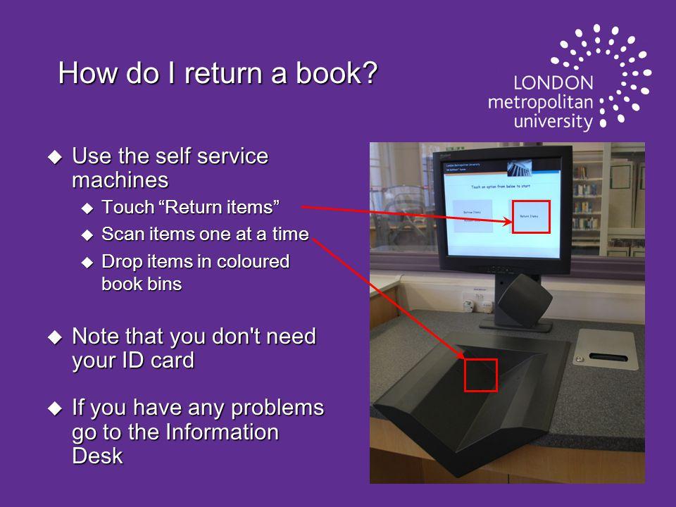 How do I return a book.