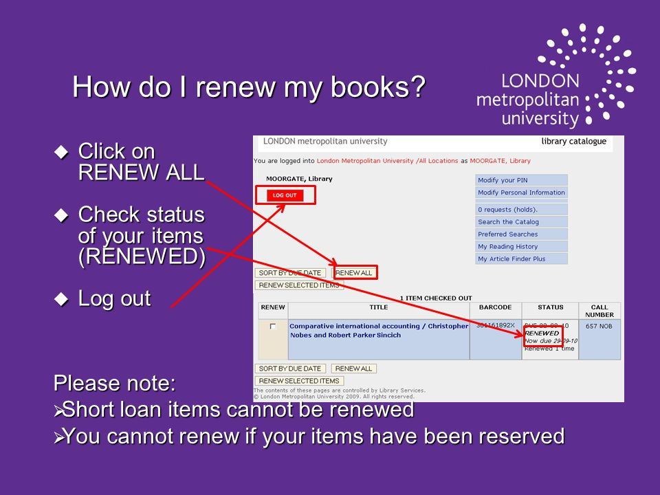 How do I renew my books.