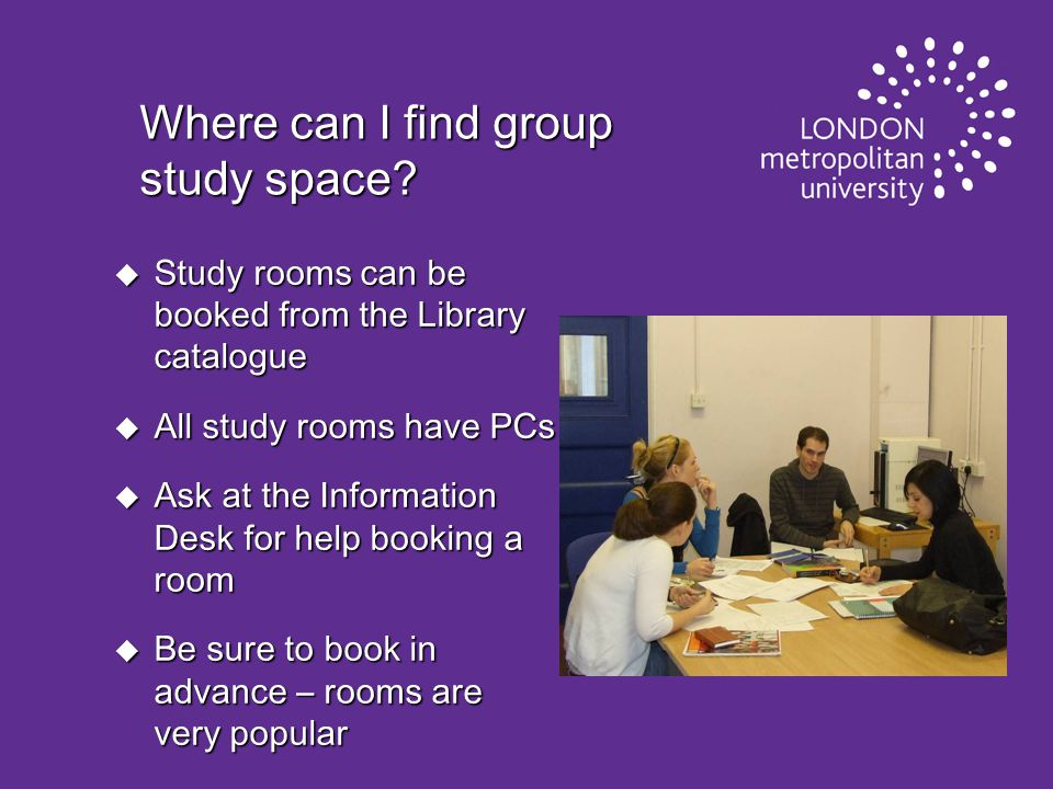 Where can I find group study space.