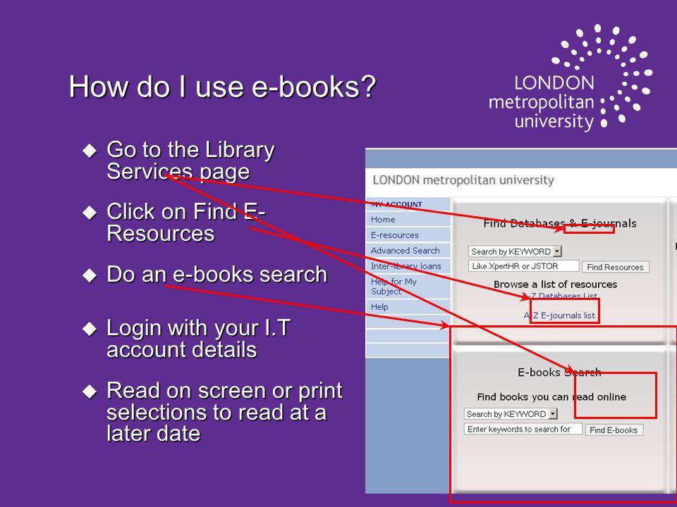 How do I use e-books.