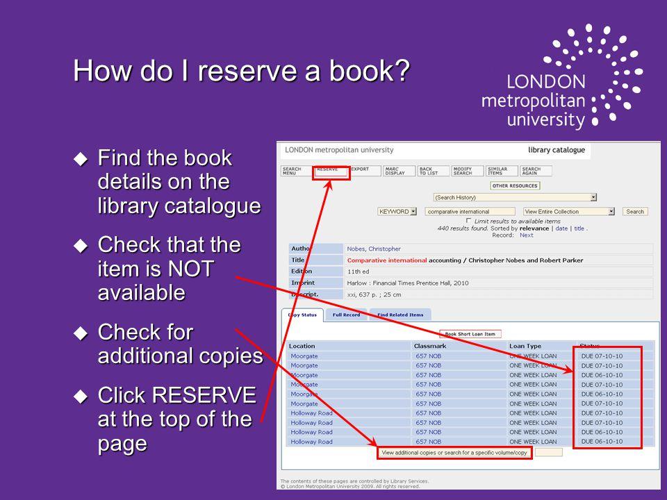 How do I reserve a book.