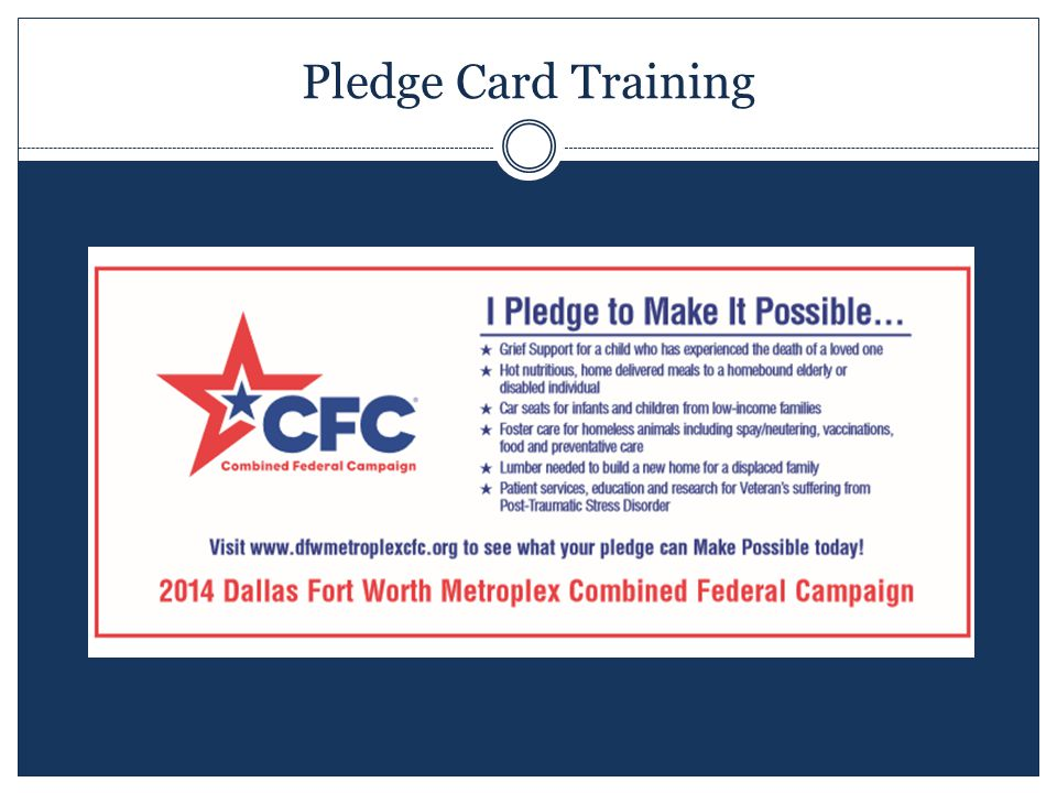 Pledge Card Training