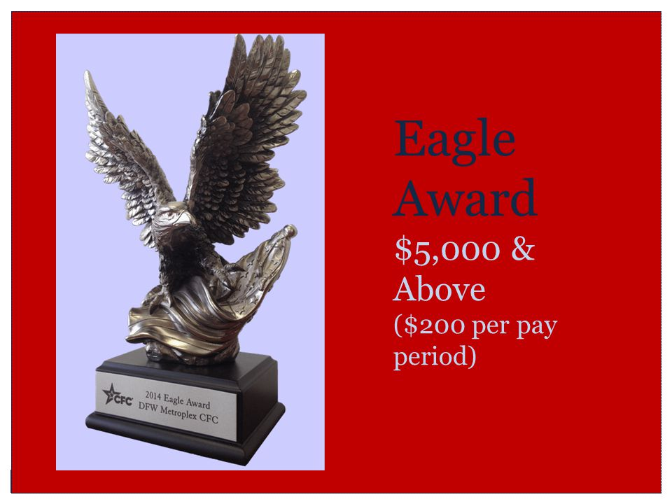 Eagle Award $5,000 & Above ($200 per pay period)