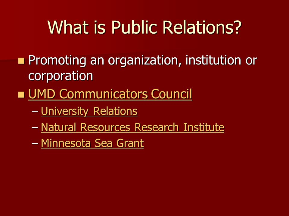 What is Public Relations.