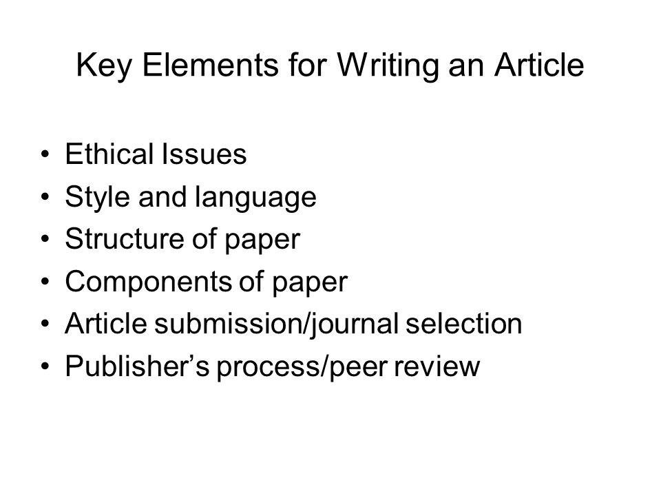 Article Submission Select your journal carefully Read the aims and scope Think about your target audience and the level of your work – do you have a realistic chance of being accepted.