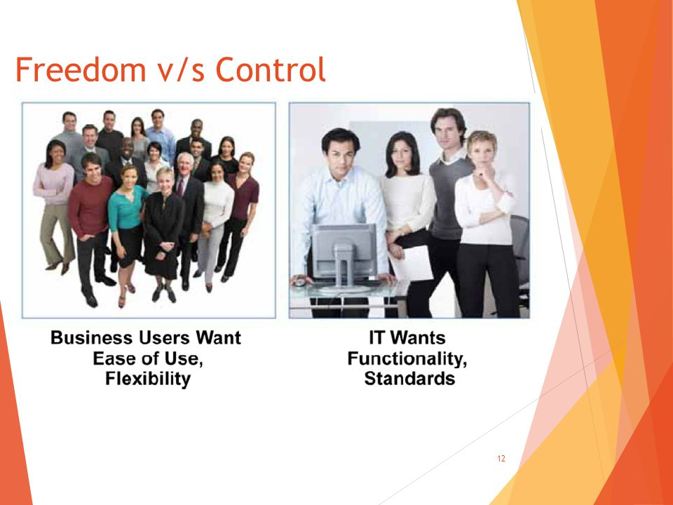 Freedom v/s Control 12