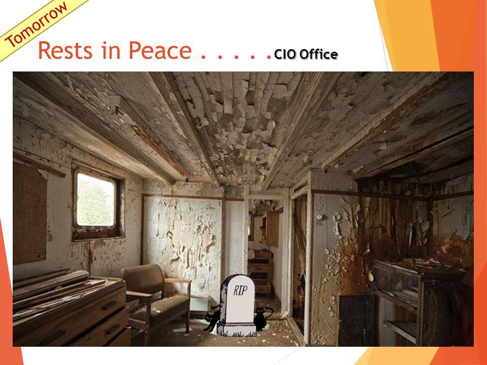 CIO Office Rests in Peace..... CIO Office 3 Tomorrow