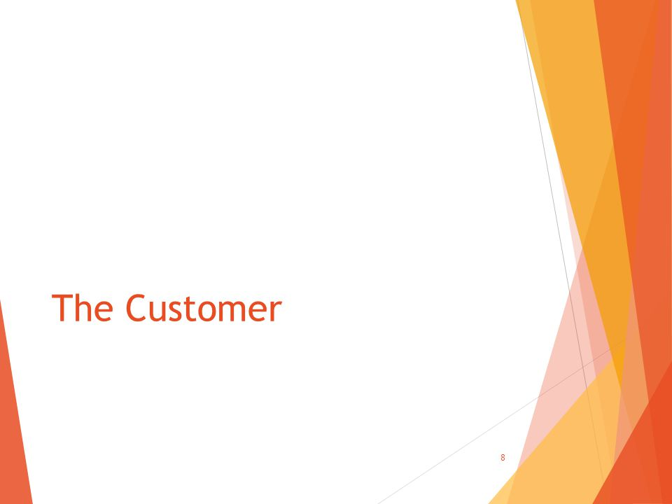 The Customer 8
