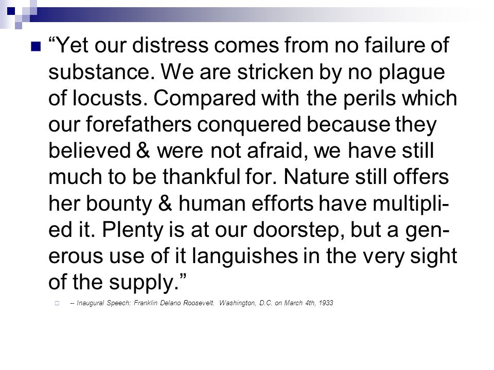Yet our distress comes from no failure of substance.