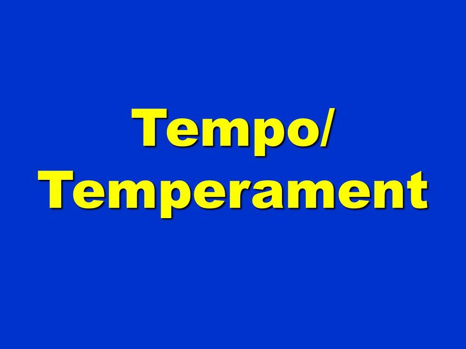 Tempo/Temperament