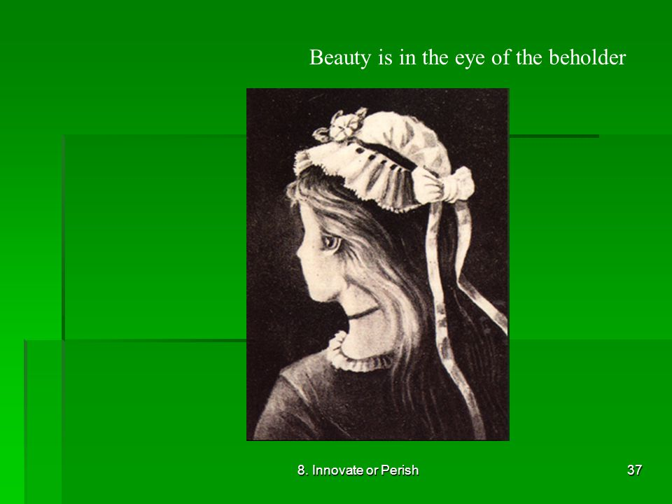 8. Innovate or Perish37 Beauty is in the eye of the beholder
