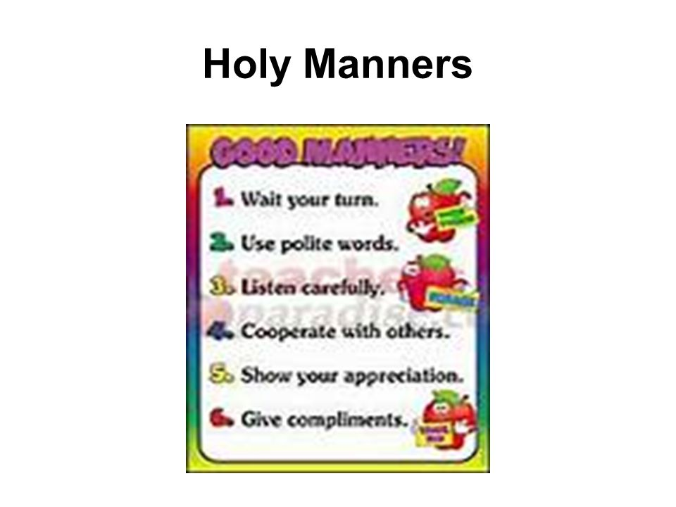 Holy Manners