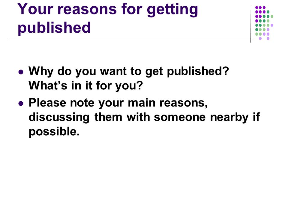 Most common advice given by editors when rejecting...