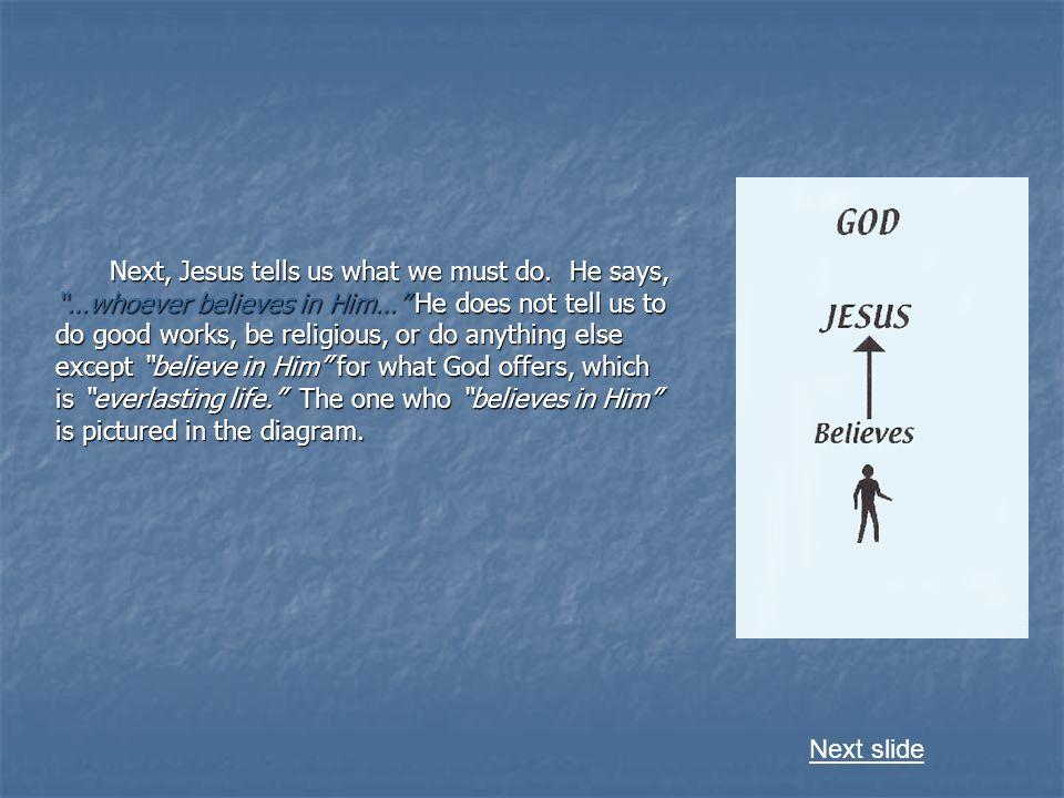 Next, Jesus tells us what we must do.
