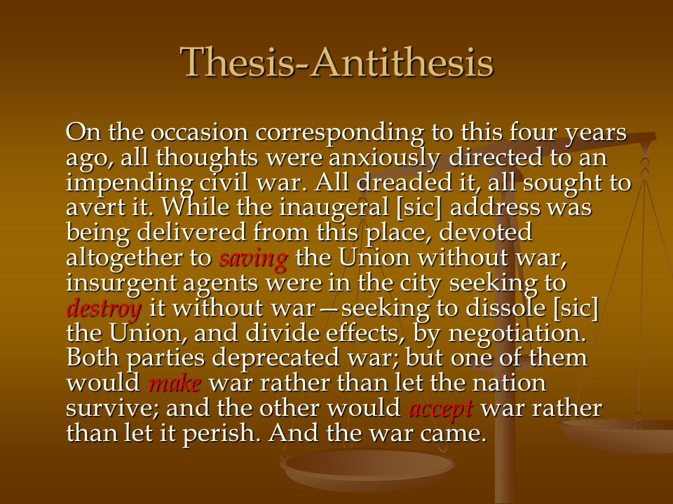 Thesis-Antithesis
