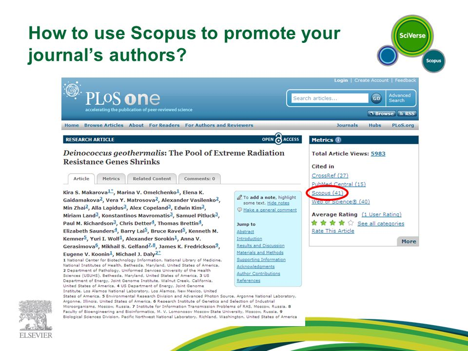 How to use Scopus to promote your journal's authors