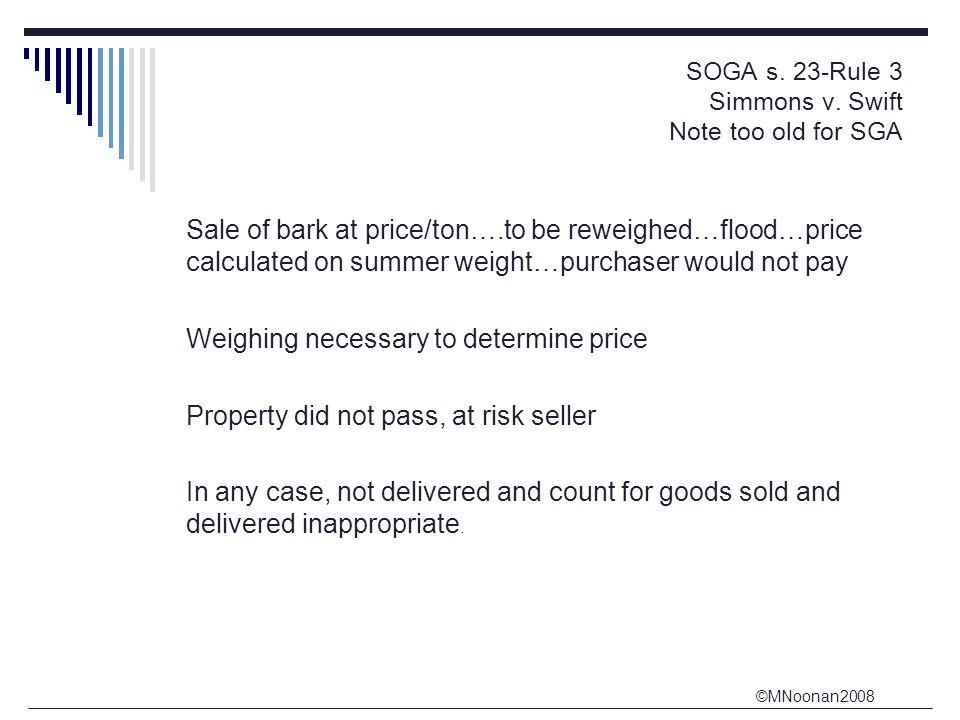 ©MNoonan2008 SOGA s.23-Rule 3 Simmons v.
