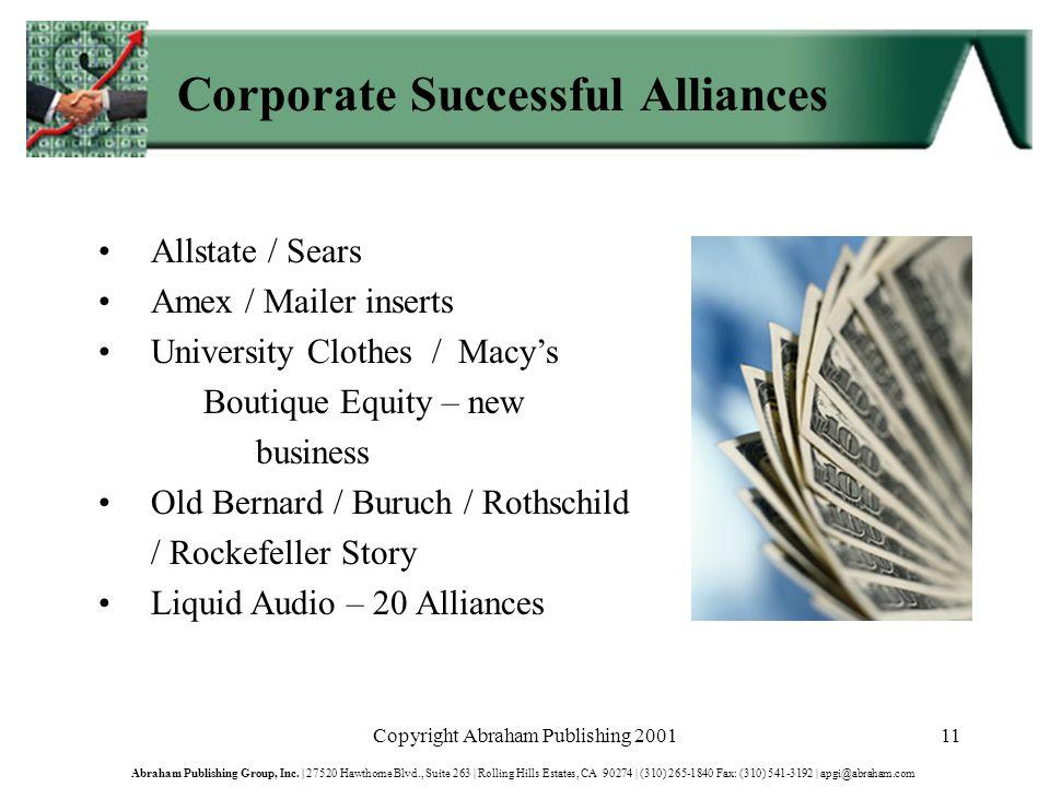 Copyright Abraham Publishing 200111 Abraham Publishing Group, Inc.