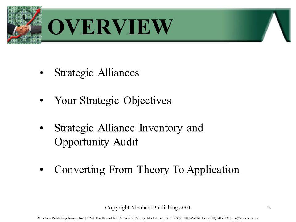 Copyright Abraham Publishing 200163 Abraham Publishing Group, Inc.