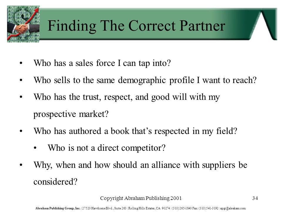 Copyright Abraham Publishing 200134 Abraham Publishing Group, Inc.