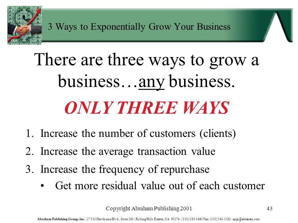 Copyright Abraham Publishing 200143 Abraham Publishing Group, Inc.