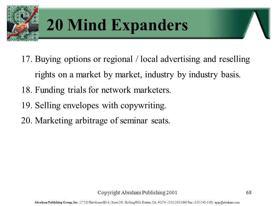 Copyright Abraham Publishing 200168 Abraham Publishing Group, Inc.