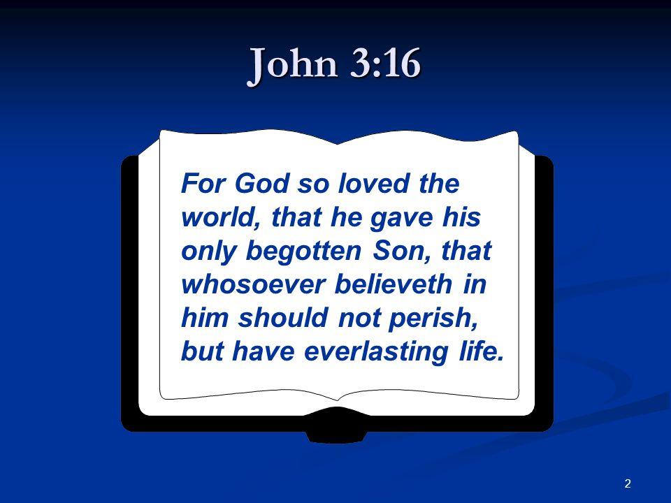 13 Great Things Declared in John 3:16