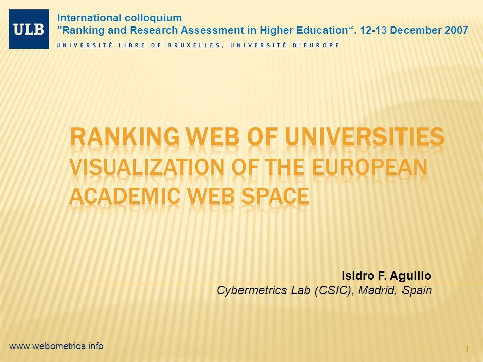 www.webometrics.info 1 Isidro F.