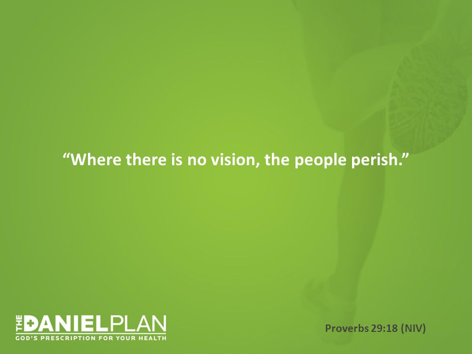 Where there is no vision, the people perish. Proverbs 29:18 (NIV)