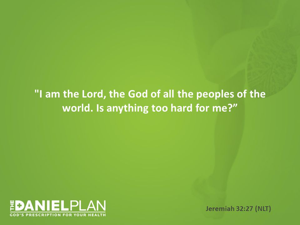 I am the Lord, the God of all the peoples of the world.