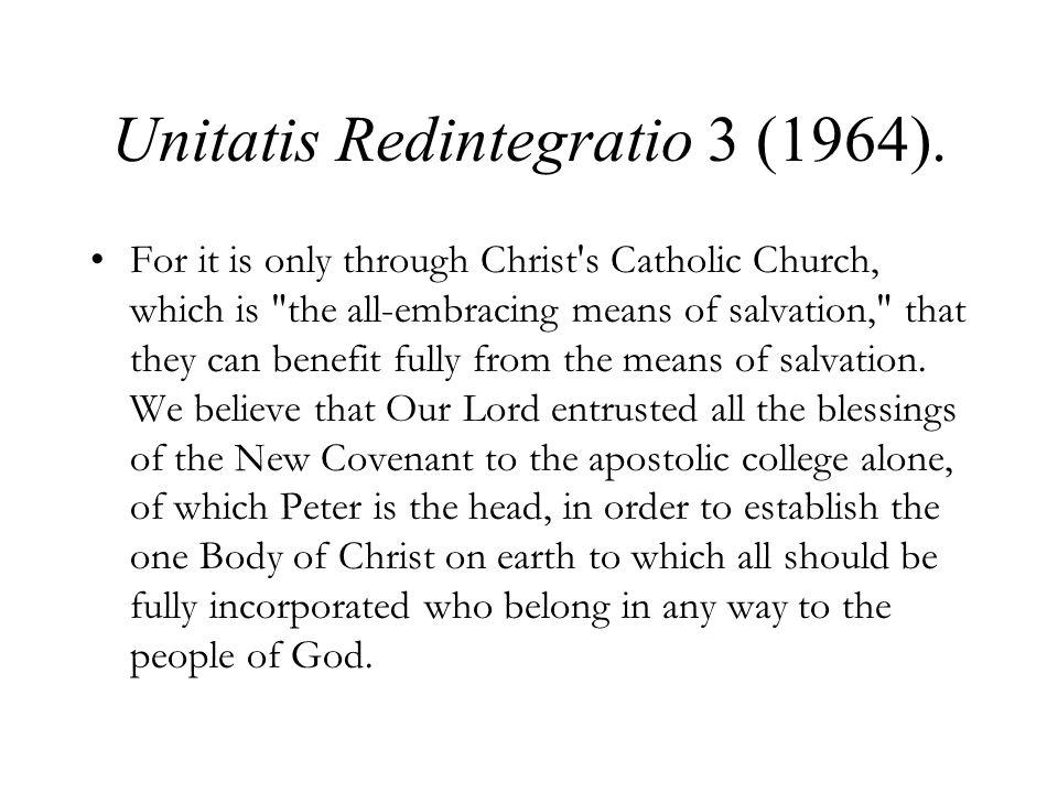 Unitatis Redintegratio 3 (1964).