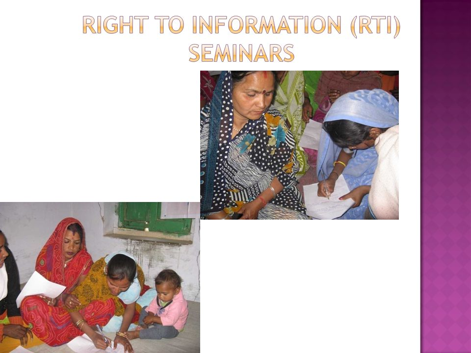 Seminars strengthening knowledge about the Right to Information Act