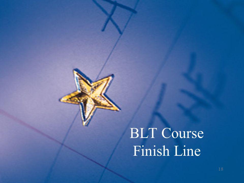 BLT Course Finish Line 18