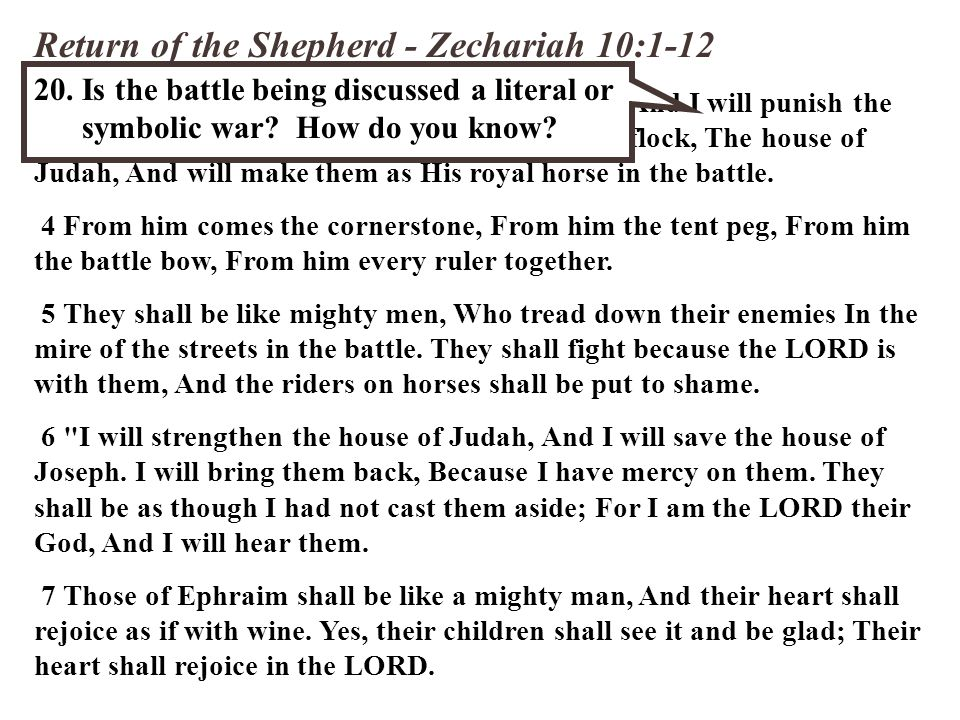 Return of the Shepherd - Zechariah 10:1-12 3