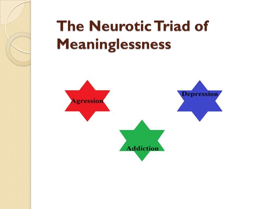 The Neurotic Triad of Meaninglessness