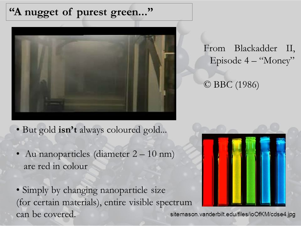 A nugget of purest green... But gold isn't always coloured gold...
