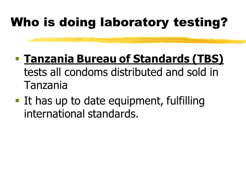 Who is doing laboratory testing.