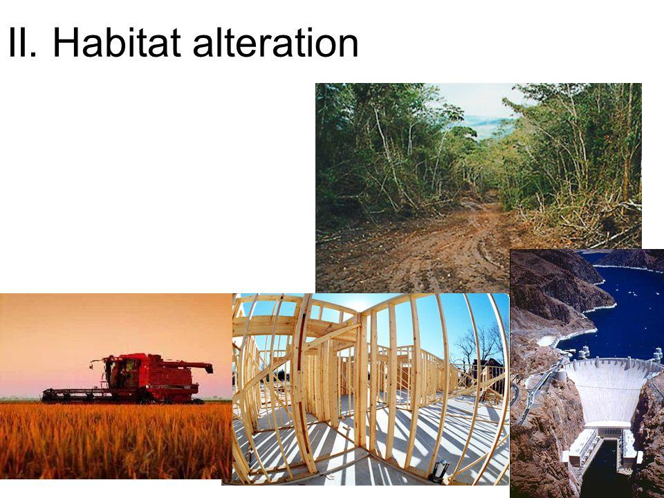 II. Habitat alteration