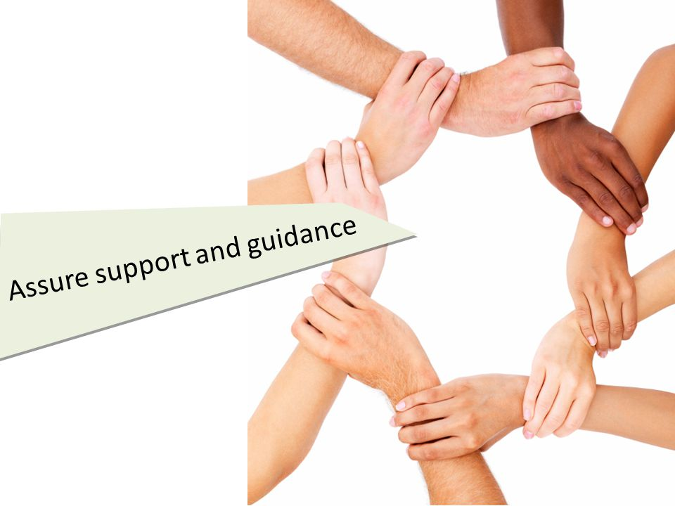Assure support and guidance