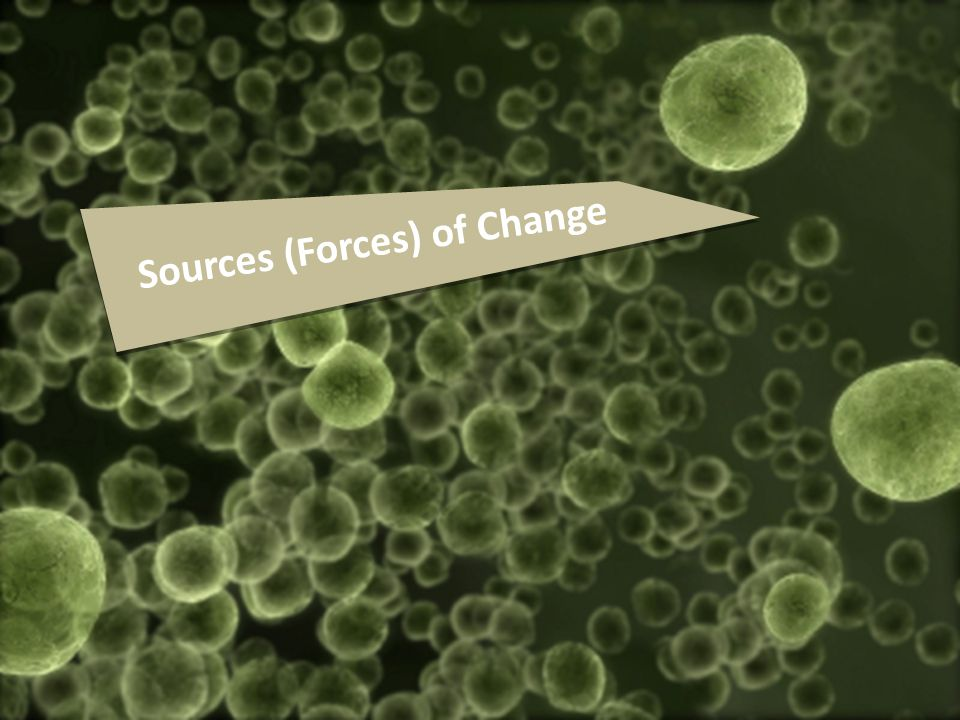 Sources (Forces) of Change
