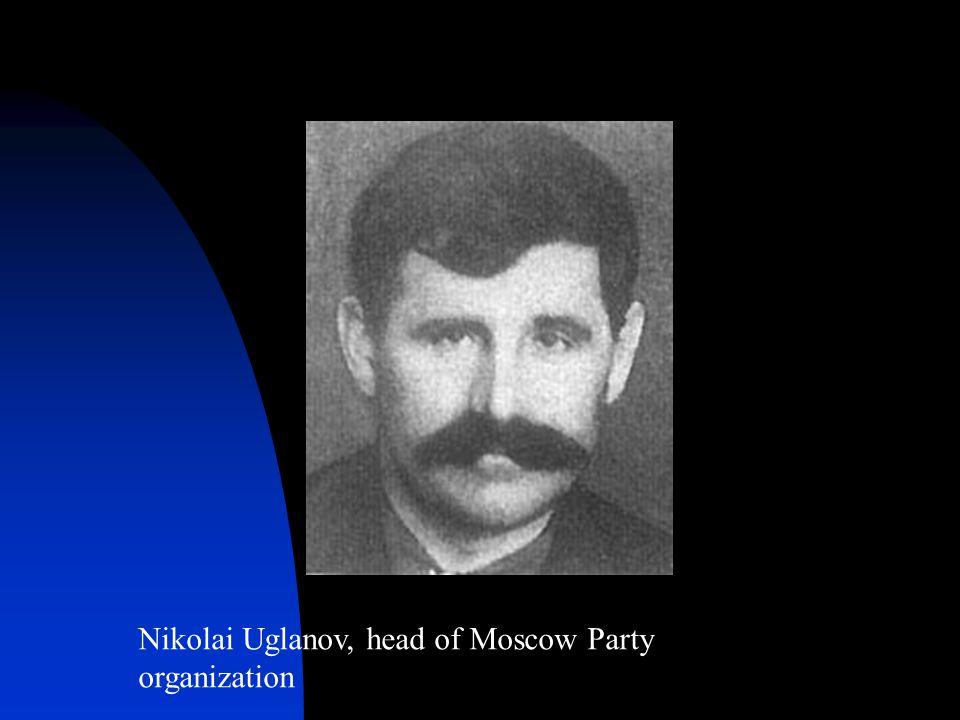 Nikolai Uglanov, head of Moscow Party organization
