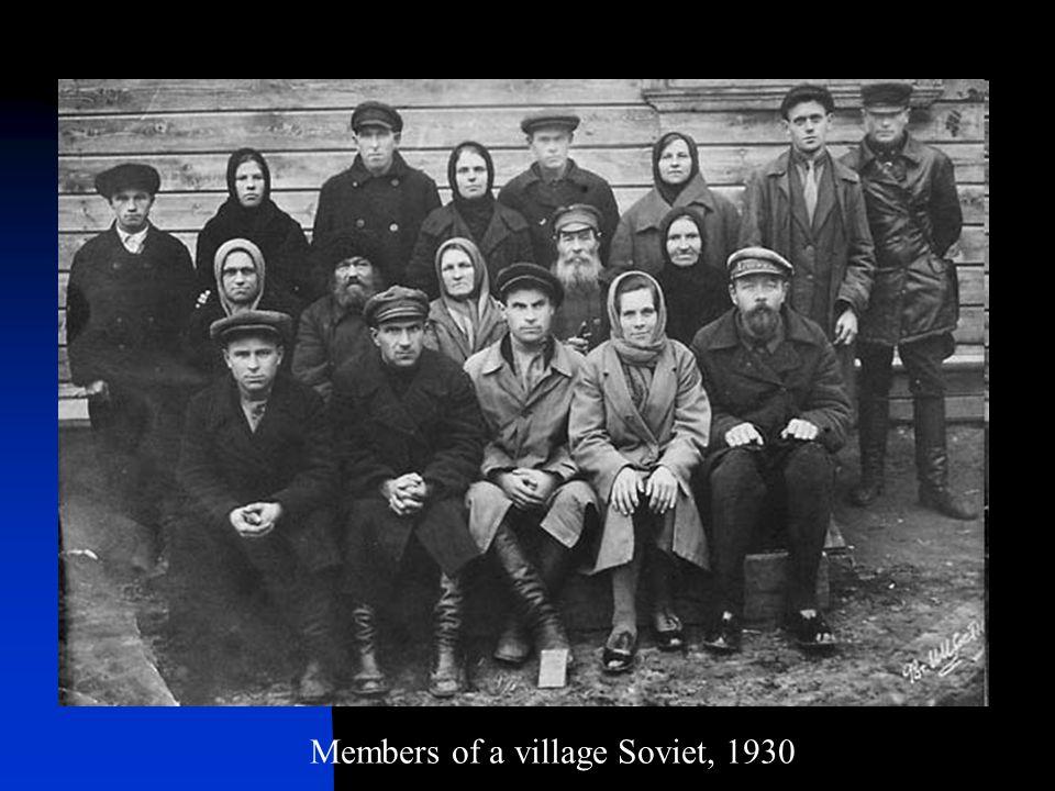 Members of a village Soviet, 1930