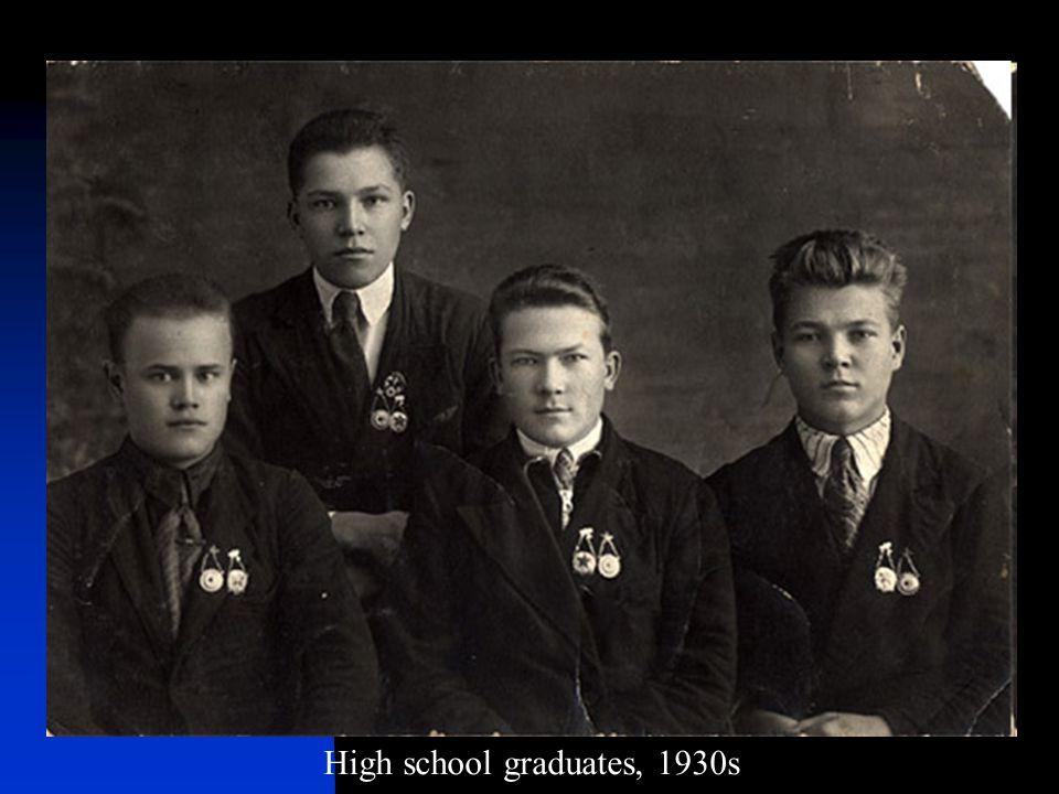 High school graduates, 1930s