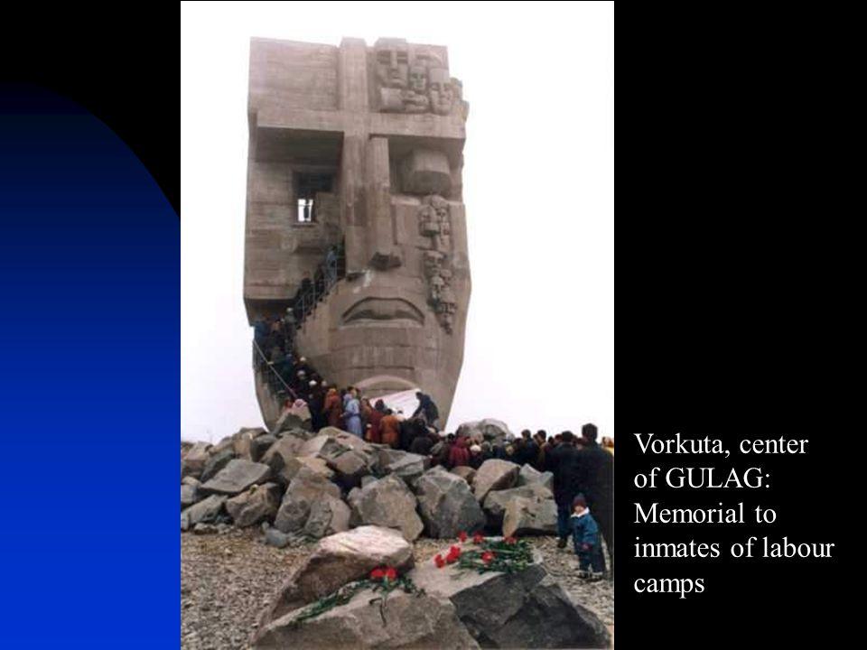 Vorkuta, center of GULAG: Memorial to inmates of labour camps