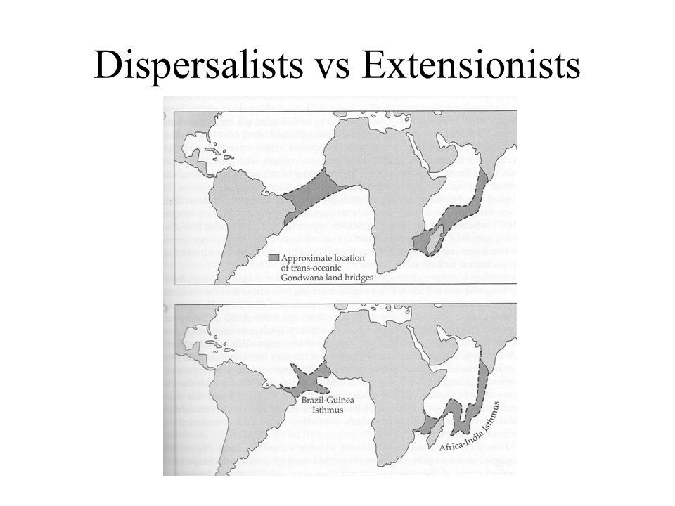 Dispersalists vs Extensionists