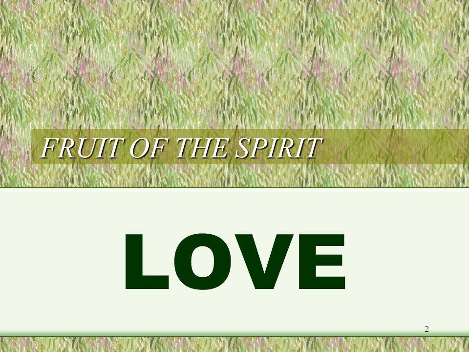 FRUIT OF THE SPIRIT LOVE 2
