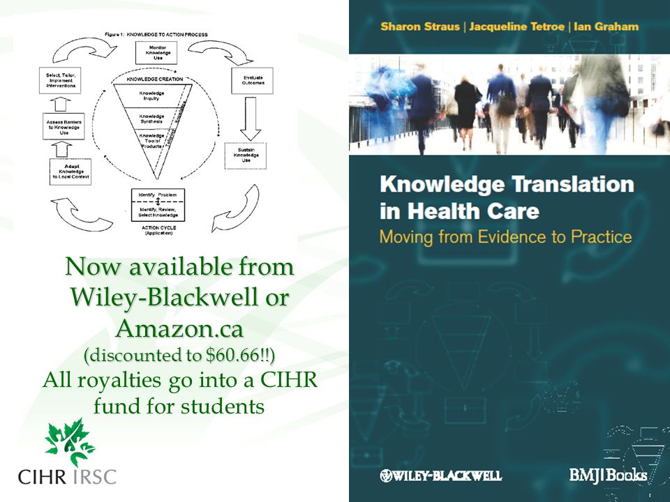 Now available from Wiley-Blackwell or Amazon.ca (discounted to $60.66!!) Now available from Wiley-Blackwell or Amazon.ca (discounted to $60.66!!) All royalties go into a CIHR fund for students