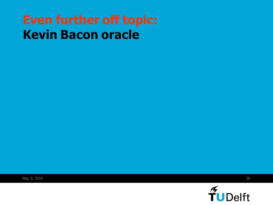May 3, 201529 Even further off topic: Kevin Bacon oracle