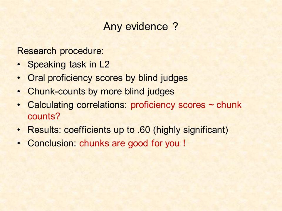 Any evidence .