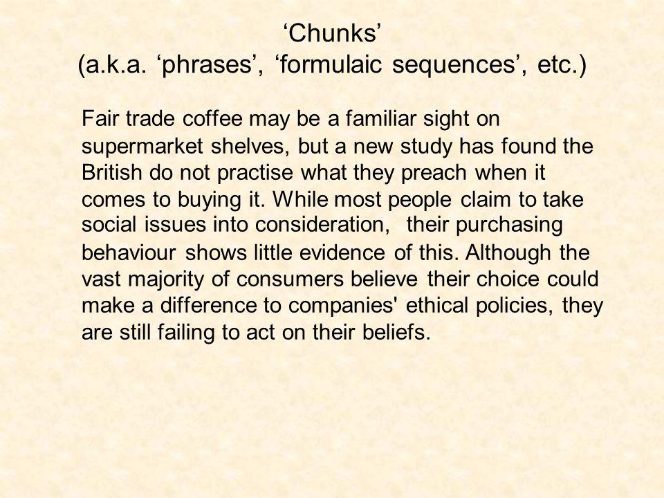 'Chunks' (a.k.a.
